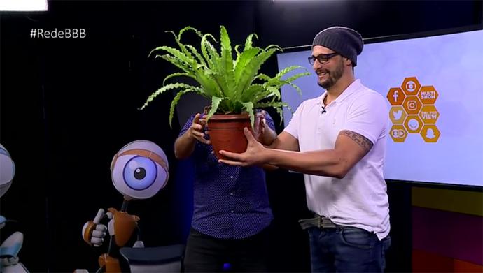 Daniel ganha planta no Bate-Papo BBB (Foto: BBB)