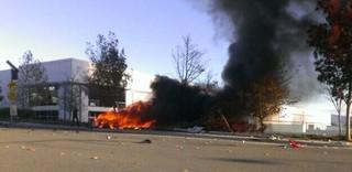 Pessoas que presenciaram o acidente postaram a foto no Twitter (Foto: Reprodução/Twitter)