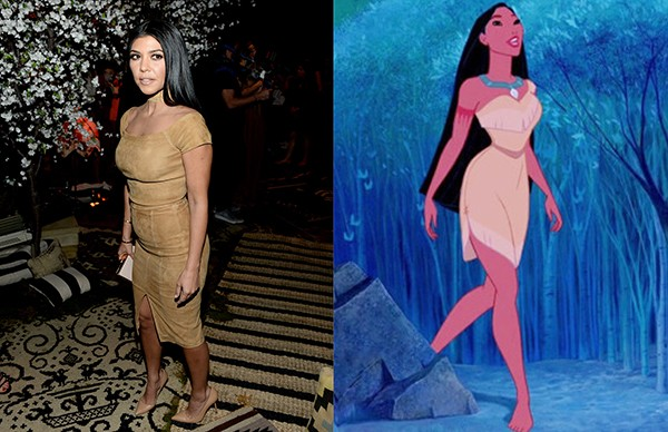 Kourtney Kardashian como Pocahontas (Foto: Getty Images)