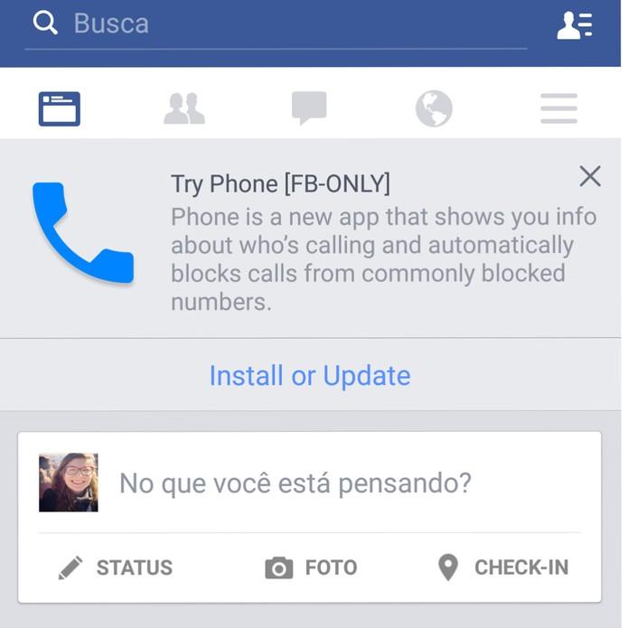 Facebook (Foto: Novo app misterioso do Facebook revela poucos detalhes (Reprodução/Isadora Díaz))