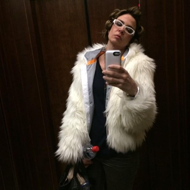 Luciana Gimenez e sua selfie de inverno (Foto: Reprodução/Instagram)