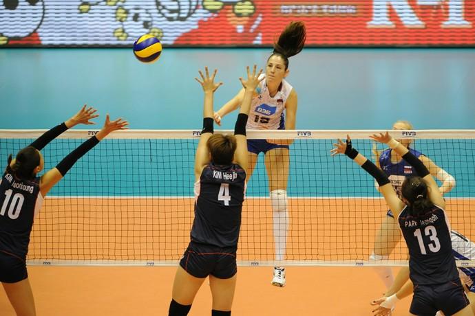 Rússia x Coreia do sul - Copa do Mundo de Vôlei Feminino (Foto: Divulgação / FIVB)