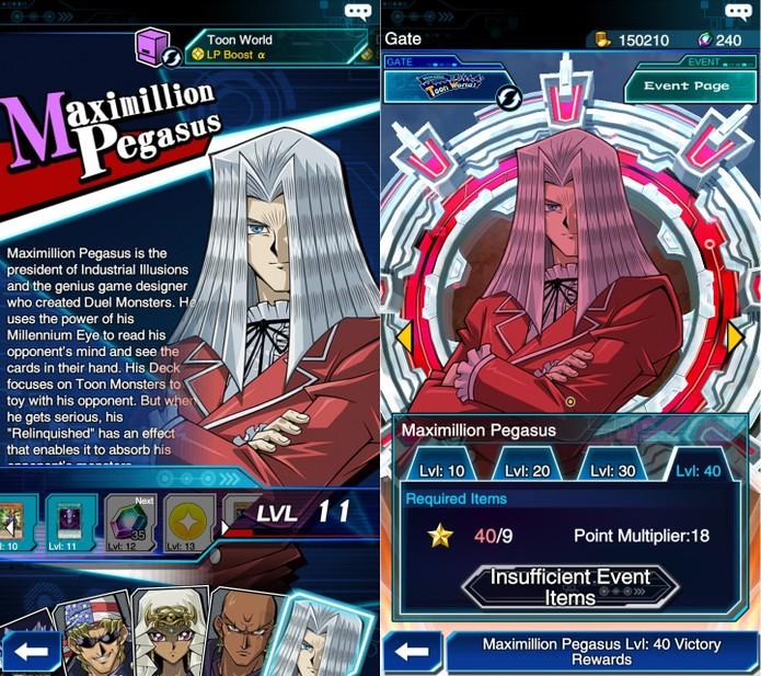 Yu-Gi-Oh! Duel Links: Pegasus é liberado após fazer 250 mil pontos num evento temporário especial (Foto: Reprodução/Vinícius Mathias)
