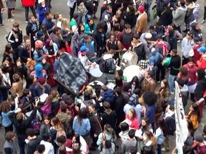 protesto, esquina democrática, porto alegre, rs (Foto: Fábio Almeida/RBS TV)