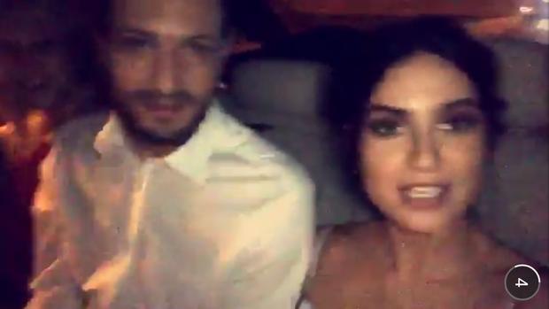 Thaila Ayala indo para o casamento de Daniel de Oliveira e Sophie Charlotte (Foto: Reprodução/ Snapchat)