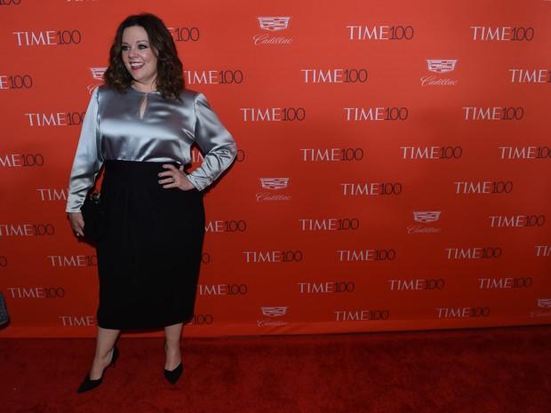 Melissa McCarthy em evento em Nova York, nos Estados Unidos (Foto: Timothy Clary/ AFP)