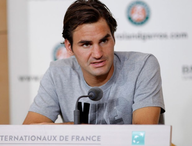 tênis roger federer coletiva roland garros (Foto: Agência Reuters)