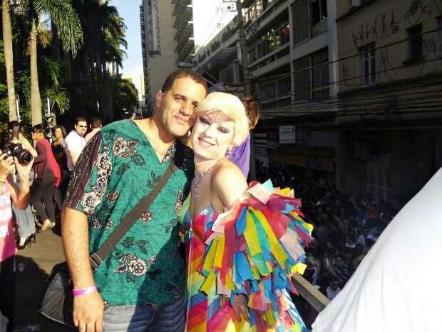 O casal Deco Ribeiro e Lohren Beauty, em Campinas  (Foto: Arquivo Pessoal / Deco Ribeiro)