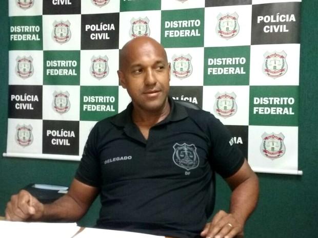 Delegado-chefe da 24ª DP (Ceilândia), Ricardo Viana (Foto: Ingrid Borges/G1)