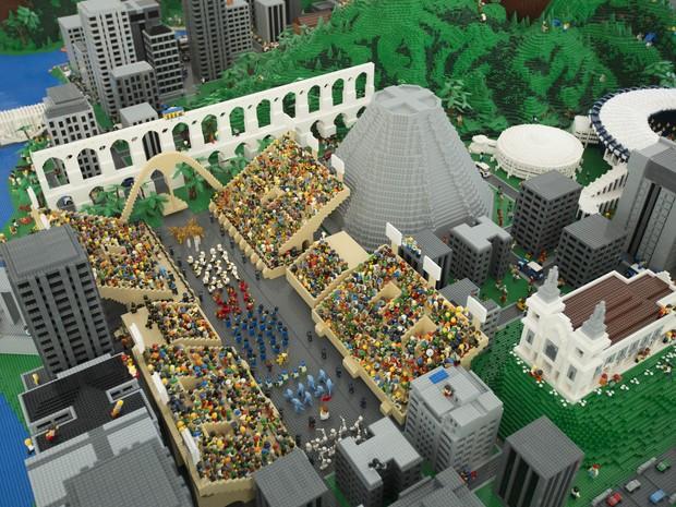 Maquete do Rio de Janeiro feito de Lego (Foto: Divulgação)