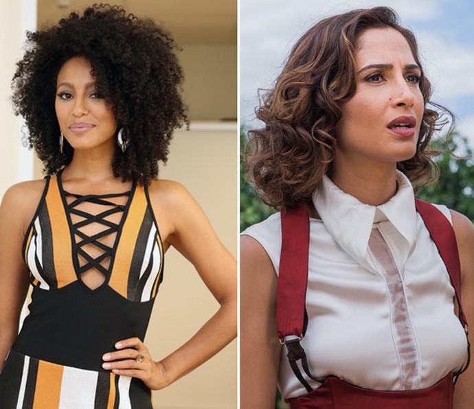 Sheron Menezes e Camila Pitanga são ótimas inspirações para cabelos afro e ondulados (Foto: Carol Caminha/Gshow)