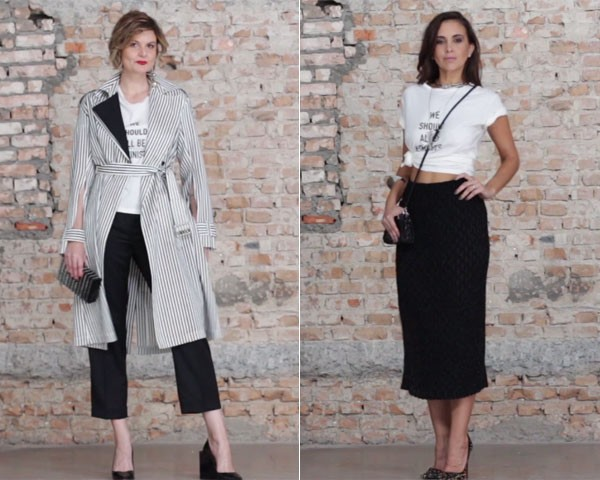 Looks da Larissa Lucchese (à esquerda) e da Camila Lima (Foto: Arturo Querzoli)