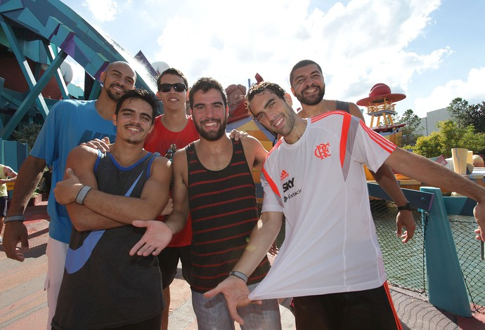 Basquete Flamengo no Islands of Adventure (Foto: Pedro Veríssimo)