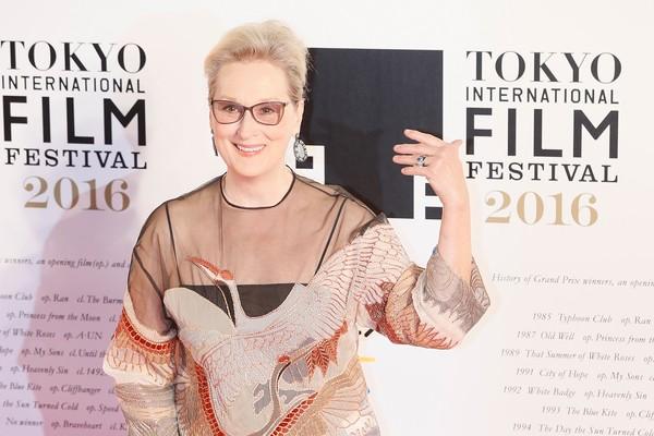 Meryl Streep no red carpet do festival japonês: atriz pode emplacar sua 20ª indicação ao Oscar no ano que vem (Foto: Getty Images)
