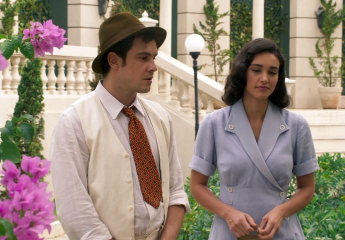 Candinho e Filomena relembram velhos tempos (Foto: TV Globo)