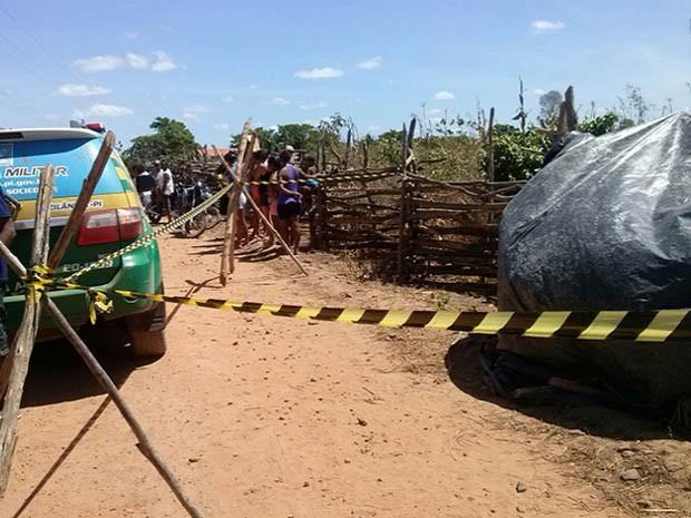 Mulher foi morta na Zona Rural de Joaquim Pires (Foto: Divulgação/PM)