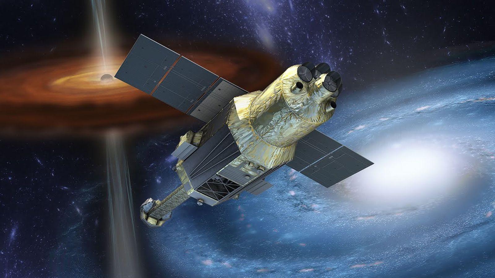 Representação do satélite Hitomi (Foto: Divulgação/JAXA)