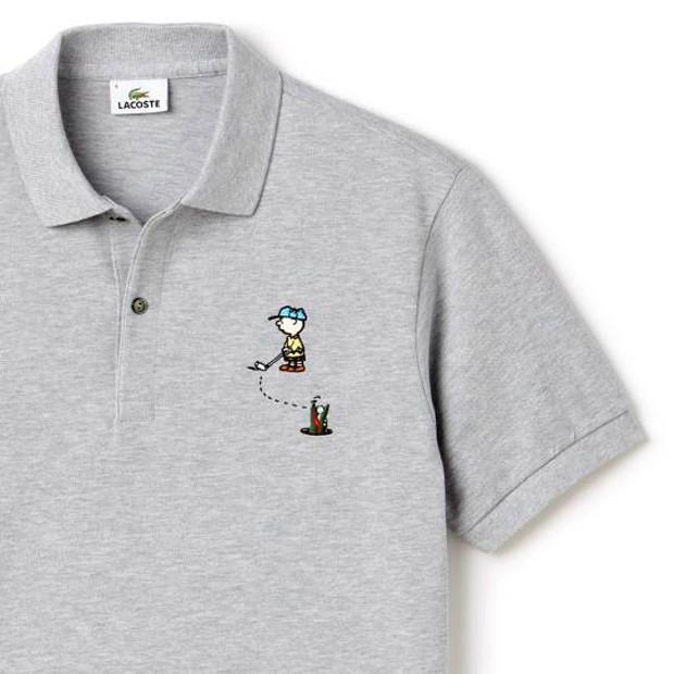 a26927fd66e Detalhe de uma das camisetas da coleção da Lacoste inspirada no Snoopy  (Foto  Divulgação