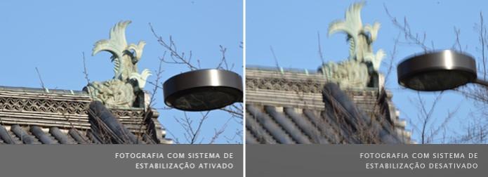 Comparativo entre fotografias com sistema de estabilização ativado, à esquerda, e desativado, à direita (Foto: Reprodução/Nikon) (Foto: Comparativo entre fotografias com sistema de estabilização ativado, à esquerda, e desativado, à direita (Foto: Reprodução/Nikon))