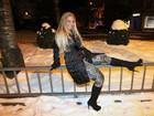 Valesca Popozuda curte a neve na Suíça
