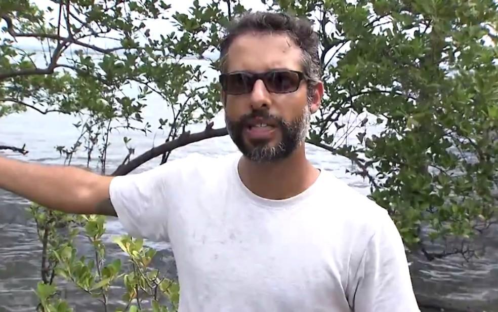 Biólogo explica que qualquer mudança na região alteraria o ecossistema local (Foto: Reprodução/TV Bahia)