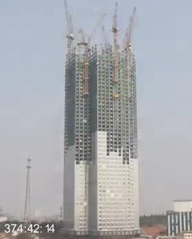 Companhia chinesa construiu prédio de 57 andares em 19 dias (Foto: Reprodução/Youtube)