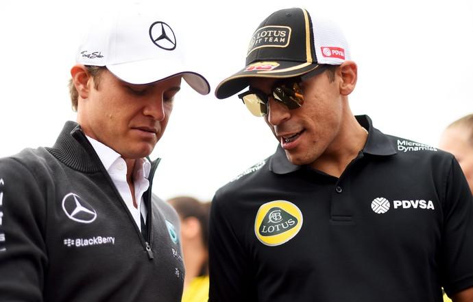 Nico Rosberg Pastor Maldonado GP da Hungria Fórmula 1 (Foto: Getty Images)