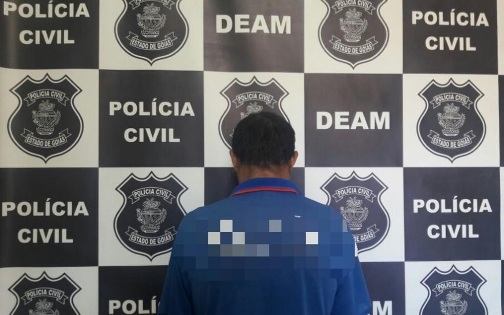 Homem de 59 anos é preso suspeito de estuprar sobrinha-neta em Itumbiara Goiás (Foto: Divulgação/Polícia Civil)