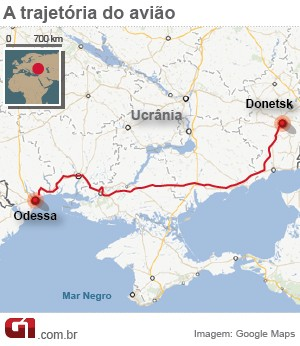 mapa ucrânia (Foto: Arte/G1)