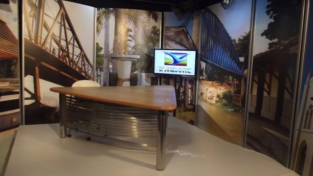Estúdio da TV Mirante de Caxias (Foto: David Peres/TV Mirante)