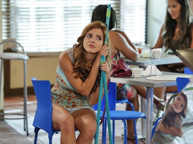 Bel fica arrasada por ter Cidinha como a sua patroa (Foto: Felipe Monteiro / Gshow)