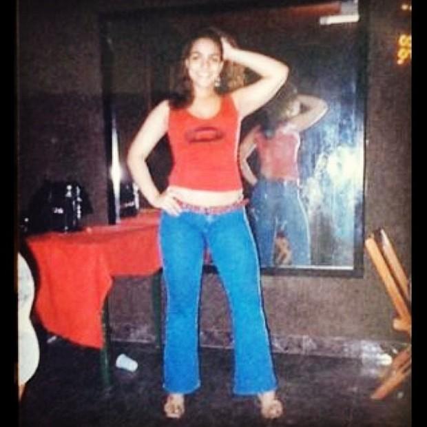 Andressa Soares, a Mulher Melancia, em foto antiga (Foto: Reprodução/Instagram)