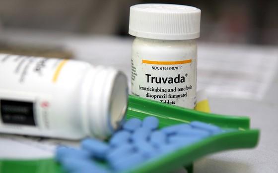 Comprimidos  de truvada droga que previne o HIV (Foto: Justin Sullivan/Getty Images)