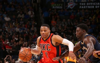 Westbrook iguala marca de Michael Jordan, e Thunder bate os Pelicans