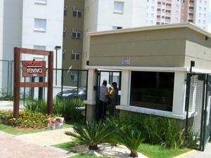 A portaria do Empreendimento Reviva, da Rossi, em Campinas (Foto: Marcello Carvalho/G1)
