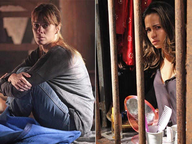 Jéssica e Morena pensam da mesma forma e fazem de tudo para sair daquele lugar (Foto: Salve Jorge/ TV Globo)