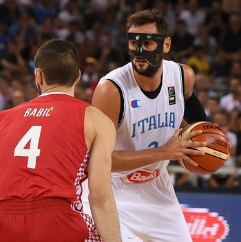 Marco Belinelli foi o destaque da vitória da Itália sobre a Croácia (Foto: Divulgação / Fiba)