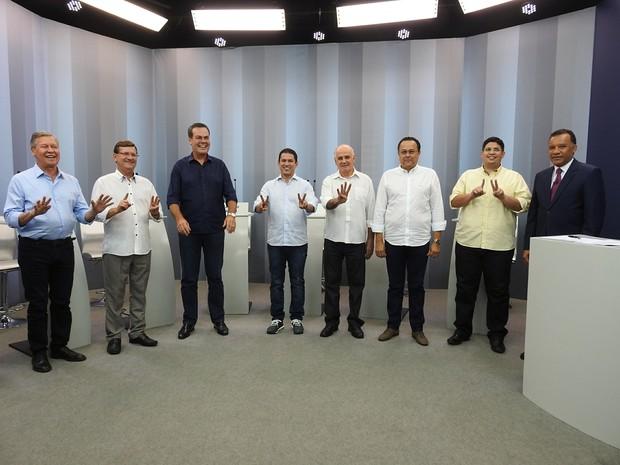Candidatos prefeitura de Manaus (Foto: Indiara Bessa/G1 AM)