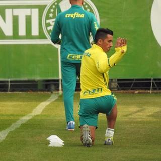 Barrios Treino Palmeiras (Foto: Rodrigo Faber)