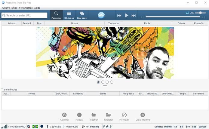 FrostWire oferece player interno e biblioteca organizada para torrents (Foto: Reprodução/Barbara Mannara)
