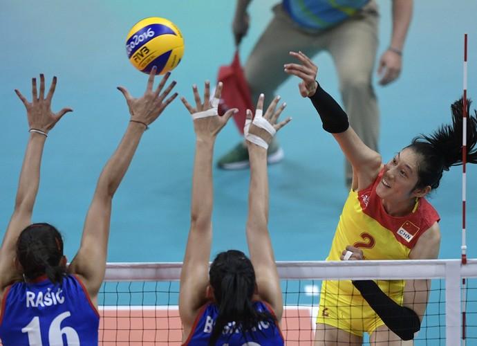 Sérvia x China vôlei final (Foto: Juan Mabromata / AFP)