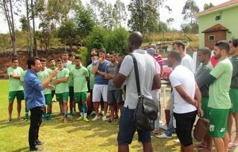 Gian Rodrigues se apresenta e já comanda primeiro treino na Caldense