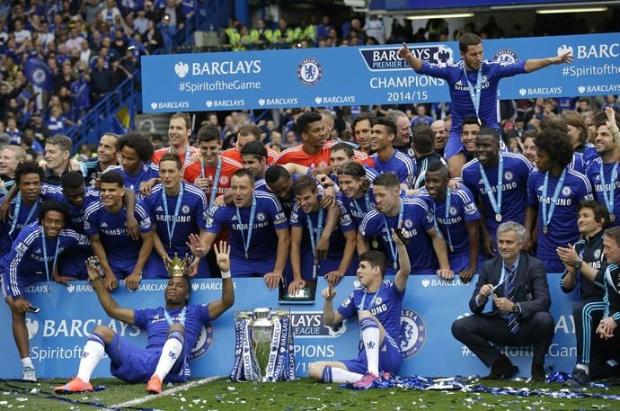 Chelsea - festa do título (Foto: AP)