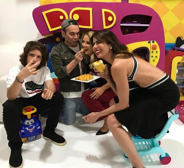 Lucas Jagger, Luciana Gimenez, Ticiane Pinheiro e Matheus Mazzafera  (Foto: Instagram / Reprodução)