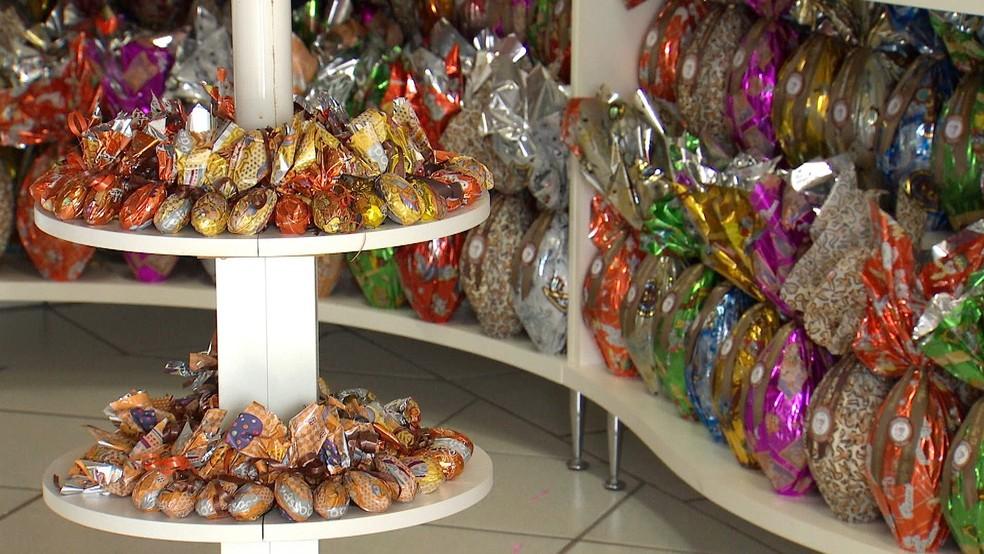 Ovos de Páscoa são a preferência de 92% dos consumidores de SC (Foto: Reprodução/TV TEM)