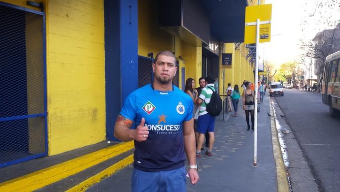 Diego César torcedor do Cruzeiro (Foto: Marco Antônio Astoni)