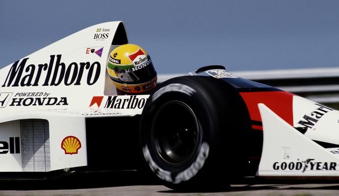 Com Ayrton Senna, a parceria McLaren-Honda se tornou uma das mais vitoriosas da história da F-1 (Foto: Getty Images)
