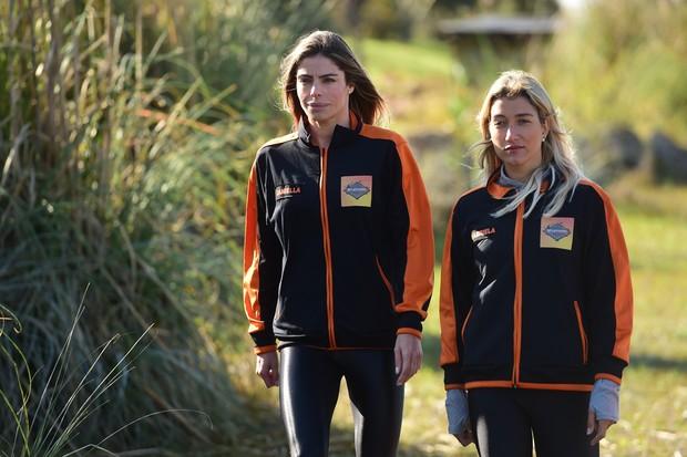Daniella Cicarelli e Gabriela Pugliesi no quadro Desafiados, do Caldeirão do Huck (Foto: Globo/João Cotta)