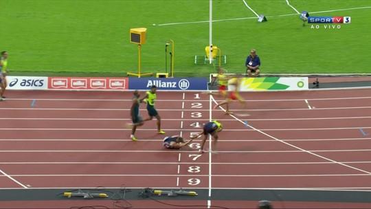 Acidente marca chegada dos 400m para cegos, e brasileiro é eliminado do Mundial