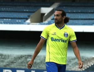 Barcos, atacante do Grêmio (Foto: Diego Guichard)